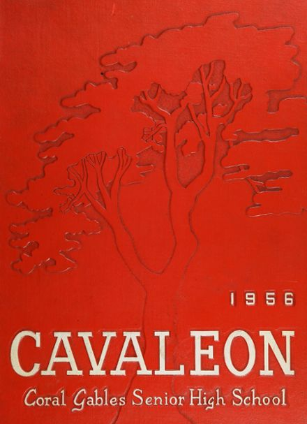 1956 Coral Gables High School Yearbook Cover
