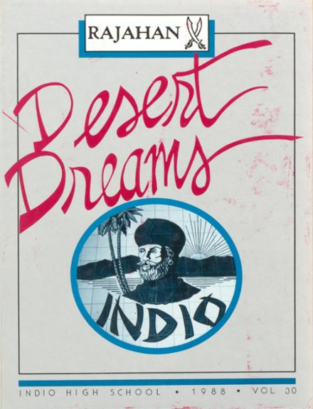 1988 Indio High School Yearbook Cover