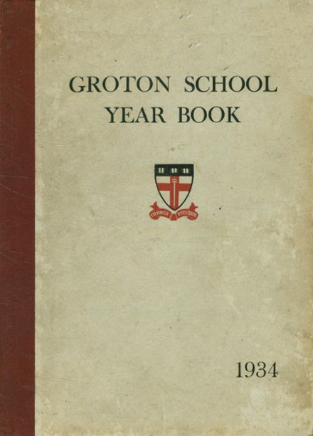 1934 Groton School Yearbook Cover