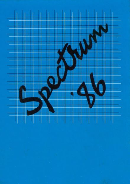 1986 Avondale High School Yearbook Cover