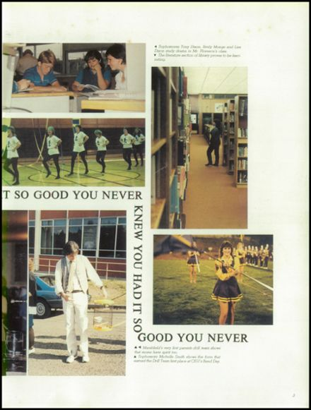 1984 Marshfield High School Yearbook Page 7