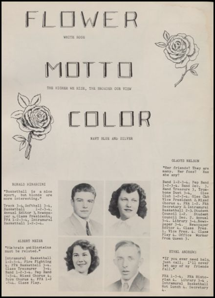 1951 Rib Lake High School Yearbook Page 8
