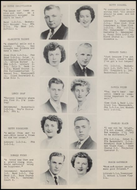 1951 Rib Lake High School Yearbook Page 9