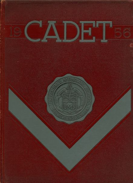 1956 University Military School Yearbook Cover