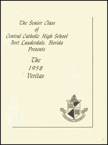 1958 Central Catholic High School Yearbook Page 5
