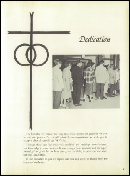 1958 Central Catholic High School Yearbook Page 9