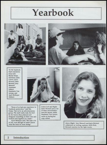 1992 Nestucca Union High School Yearbook Page 6