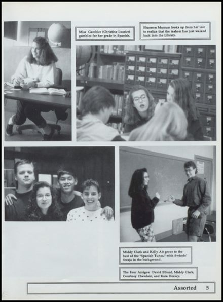 1992 Nestucca Union High School Yearbook Page 9