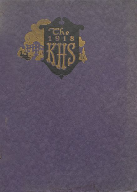 1918 Kendallville High School Yearbook Cover