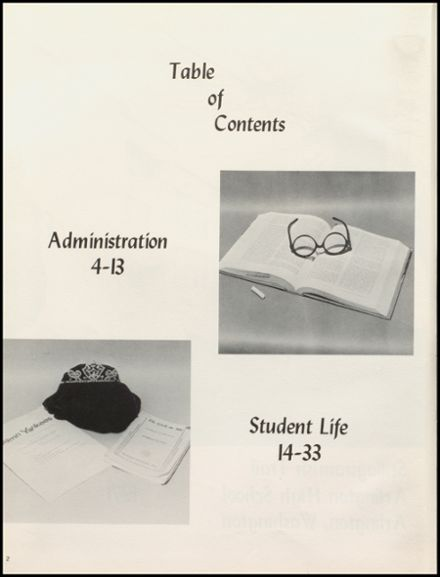 1971 Arlington High School Yearbook Page 6
