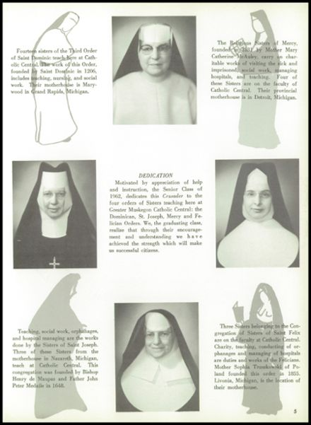 1962 Muskegon Catholic Central High School Yearbook Page 9