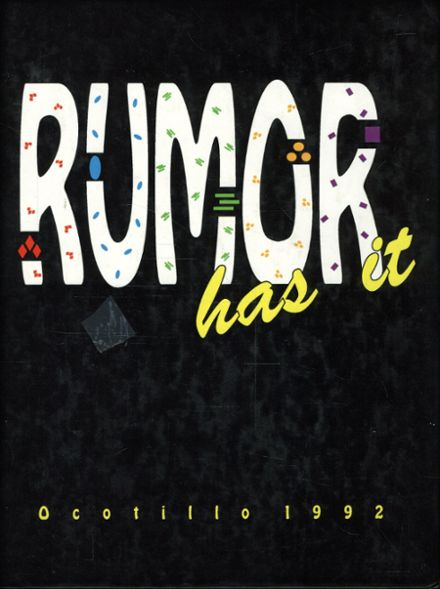 1992 Safford High School Yearbook Cover