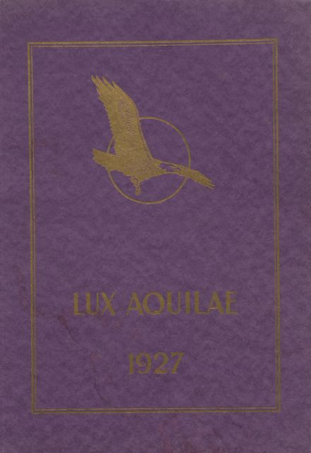 1927 Eagle Rock High School Yearbook Cover
