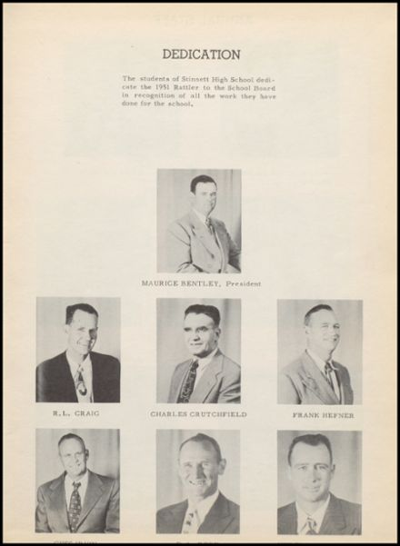 1951 Stinnett High School Yearbook Page 7