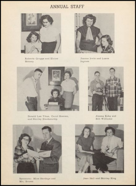 1951 Stinnett High School Yearbook Page 8