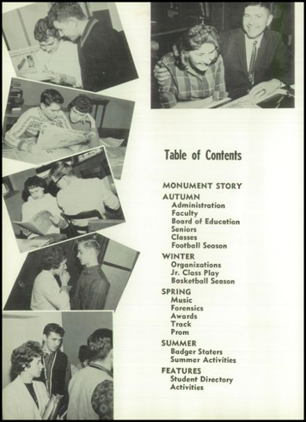 1961 River Falls High School Yearbook Page 8