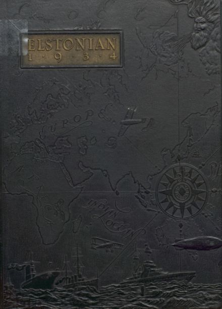 1934 Elston High School Yearbook Cover