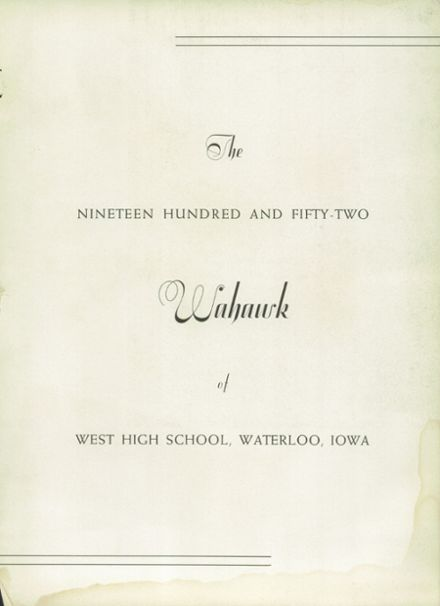 1952 West High School Yearbook Page 7