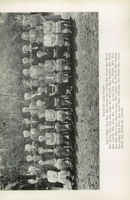 1951 Oxford School for Girls Yearbook Page 8