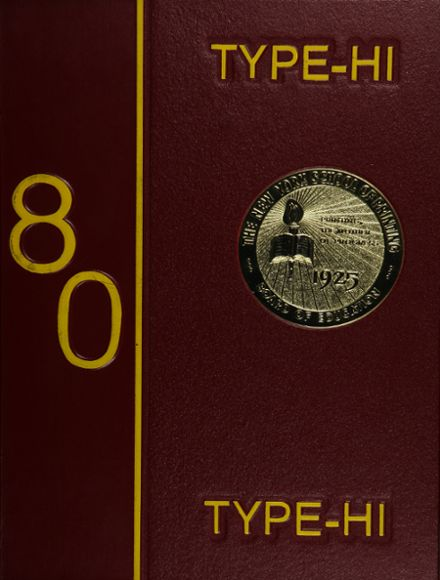 1980 New York High School of Printing Yearbook Cover