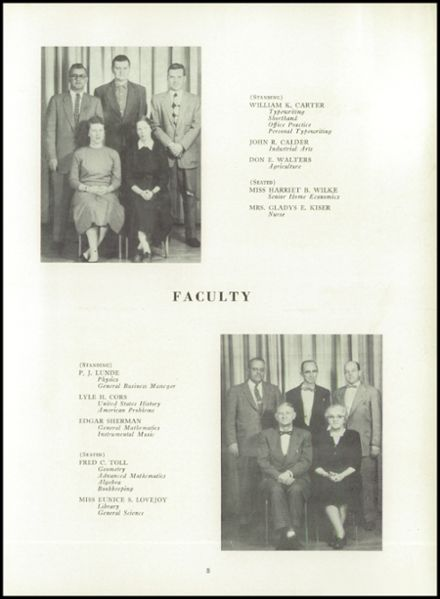 1957 Ripon High School Yearbook Page 9