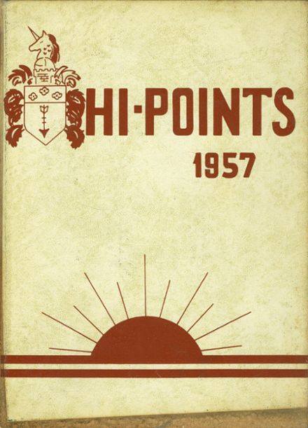 1957 Sparrows Point High School Yearbook Cover