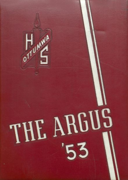 1953 Ottumwa High School Yearbook Cover
