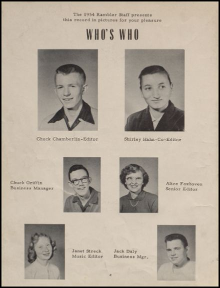 1954 Maple Valley High School Yearbook Page 6