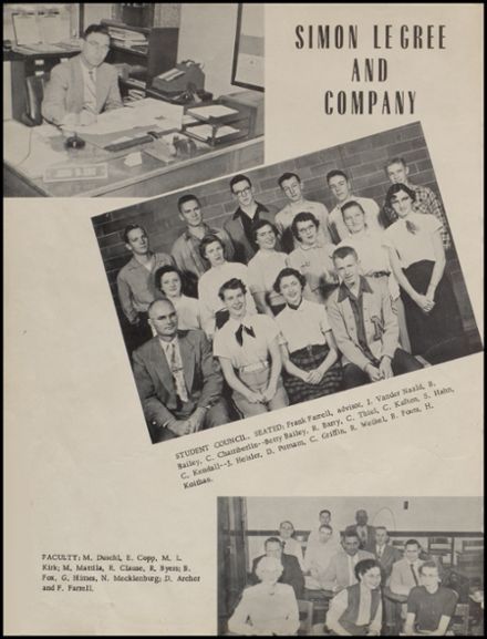 1954 Maple Valley High School Yearbook Page 8