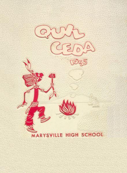 1955 Marysville High School Yearbook Cover