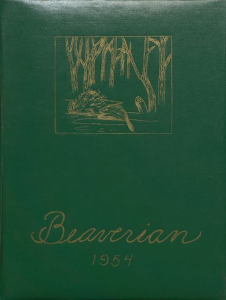 1954 Beaver River Central High School Yearbook Cover