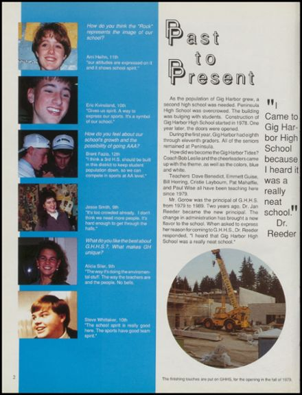 1991 Gig Harbor High School Yearbook Page 6