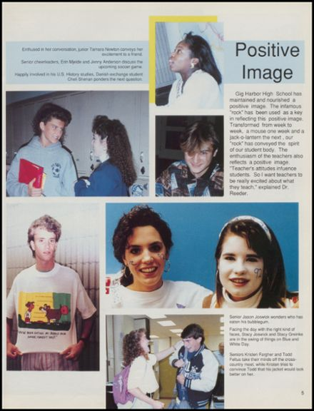 1991 Gig Harbor High School Yearbook Page 9
