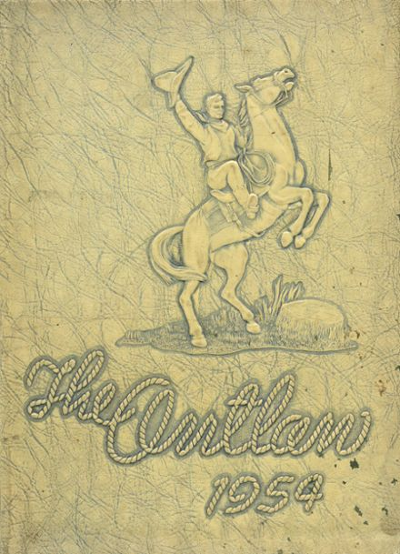 1954 Marlow High School Yearbook Cover