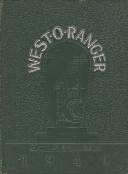 1940 West Orange High School Yearbook Cover