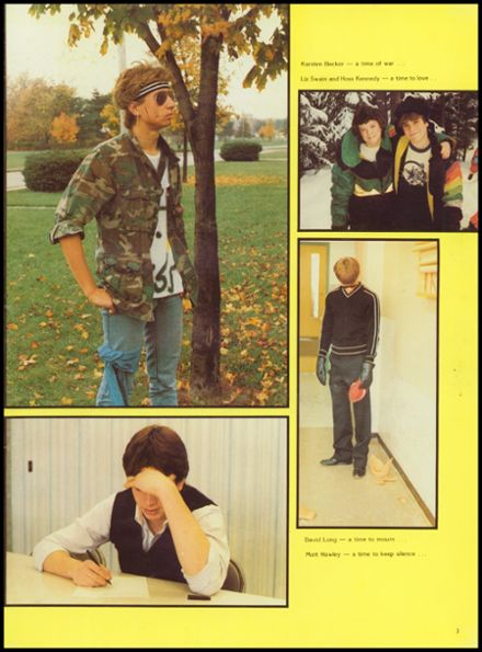 1985 Manchester High School Yearbook Page 7
