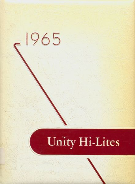 1965 Unity High School Yearbook Cover