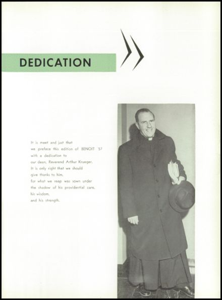 1957 St. Benedict High School Yearbook Page 9