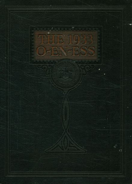 1933 Oneonta High School Yearbook Cover