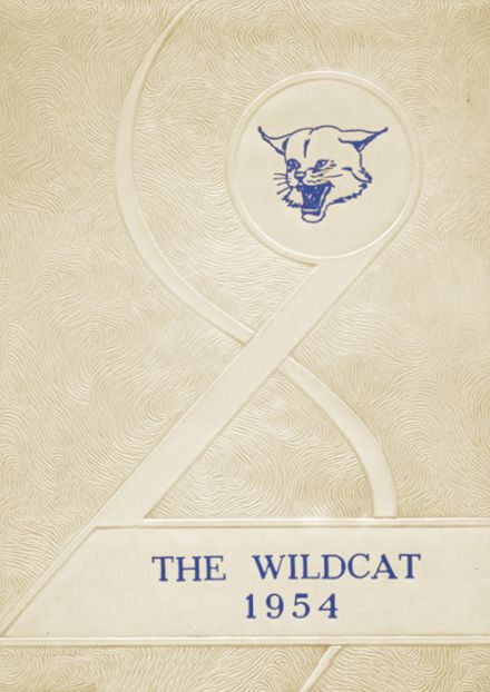 1954 Welch High School Yearbook Cover