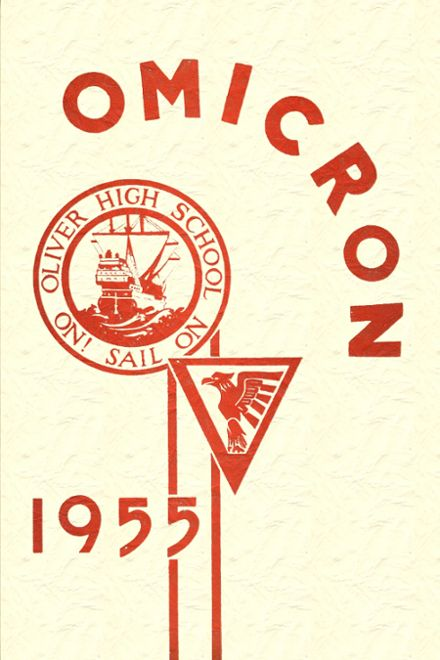 1955 Oliver High School Yearbook Cover