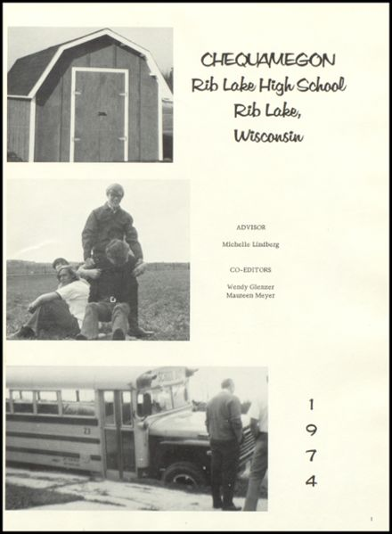 1974 Rib Lake High School Yearbook Page 5