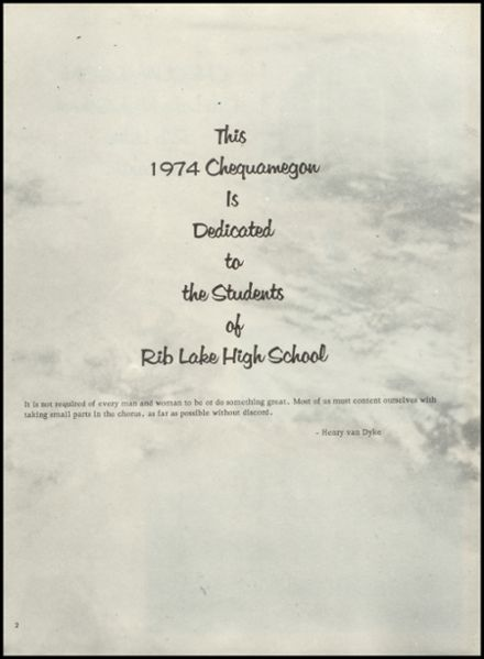 1974 Rib Lake High School Yearbook Page 6