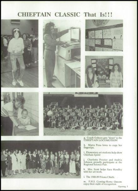 1989 Friona High School Yearbook Page 7