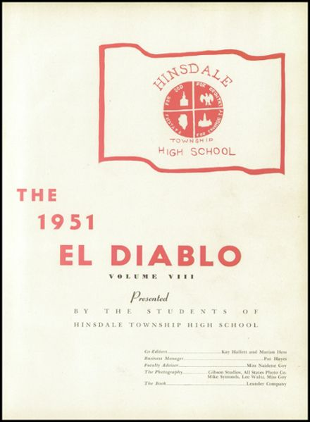 1951 Hinsdale Central High School Yearbook Page 5