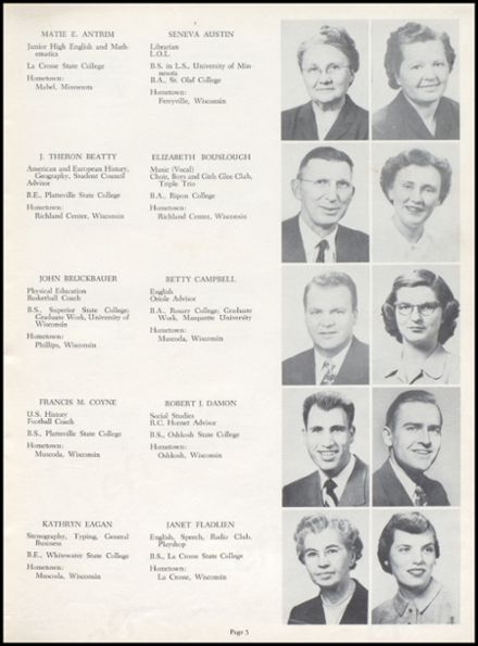 1954 Richland Center High School Yearbook Page 9