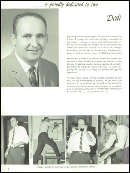 1968 Big Sandy High School Yearbook Page 6