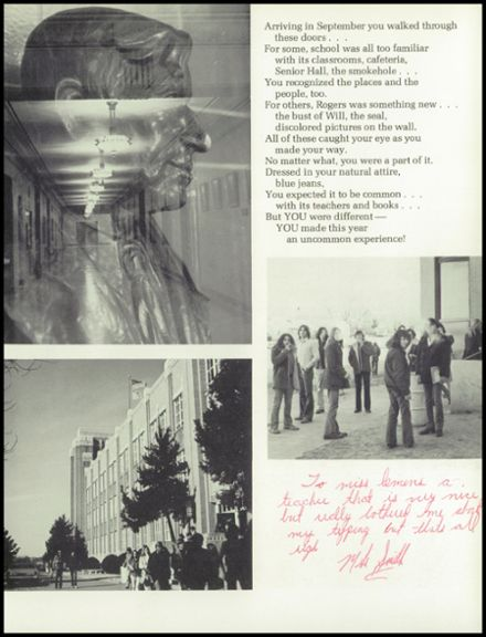 1975 Will Rogers High School Yearbook Page 7