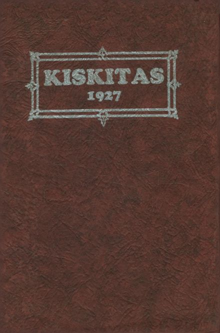 1927 Apollo High School Yearbook Cover