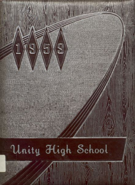1959 Unity High School Yearbook Cover